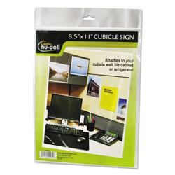 Nudell Plastics Clear Plastic Sign Holder, All-Purpose, 8 1/2 x 11