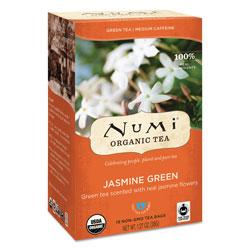 Numi Organic Teas and Teasans, 1.27 oz, Jasmine Green, 18/Box
