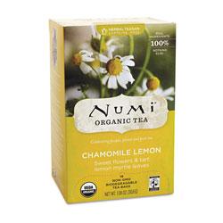 Numi Organic Teas and Teasans, 1.8 oz, Chamomile Lemon, 18/Box