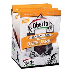 Oberto® All Natural Beef Jerky, Original, 1.5 oz Pouch, 8/Box