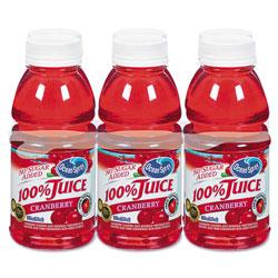 Ocean Spray 100% Juice, Cranberry, 10oz Bottle, 6/Pack