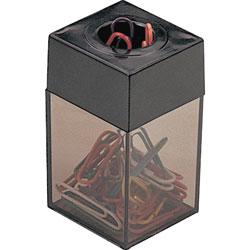 Officemate Clip Dispenser, Magnetic, Smoke/Black