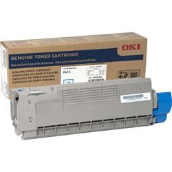 Okidata Toner Cartridge for C612, 6,000 Page Yield, Cyan