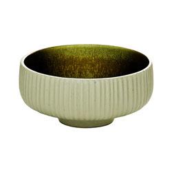 Bauscher Hepp Playground Nara Round Dip Relief Dish, 3.1 in, Olive