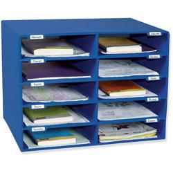 Pacon Classroom Mailbox, 10 Slots