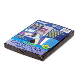 "Riverside Paper 65 lb. Card Stock, 8 1/2"" x 11"", Black"