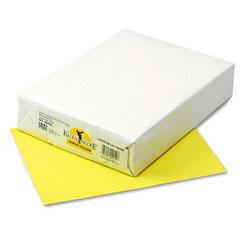 Riverside Paper Kaleidoscope Multipurpose Colored Paper, 24lb, 8.5 x 11, Lemon Yellow, 500/Ream