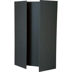 Pacon Tri-Fold Presentation Boards, 48 in x 36 in, Black