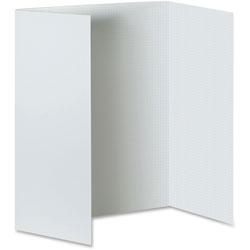 Pacon Foam Presentation Board, 1/2 in Grid, 48 in x 36 in, 3/CT, White
