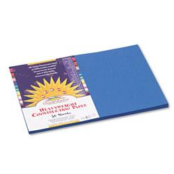 Pacon Construction Paper, 58lb, 12 x 18, Bright Blue, 50/Pack