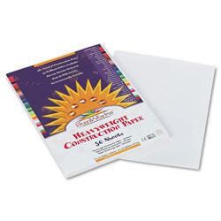 Pacon Construction Paper, 58lb, 9 x 12, White, 50/Pack