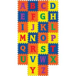 Pacon Alphabet Carpet Tile, Wonderfoam, 12 inWx12 inH, 1 ST, Assorted