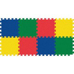 Pacon Colors Carpet Tile, Wonderfoam, 12 inWx12 inH, 4 EA/ST, AST