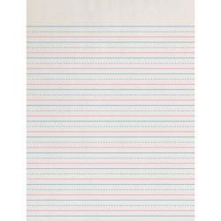 Pacon Broken Midline Paper, 1/2 in x 1/4 in Short Rule, 8x10-1/2 in, WE