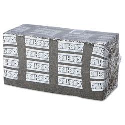 Boardwalk Grill Brick, 8 x 4, Black, 12/Carton