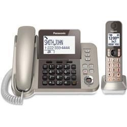 Panasonic Corded/corless Phone/Ans Machine, Nickel