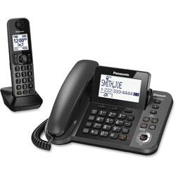 Panasonic Link2Cell Corded/Cordless, Talking Caller ID, Black