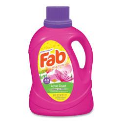 Fab® Laundry Detergent Liquid, Love Duet (Lotus and Lilac), 40 Loads, 60 oz Bottle, 6/Carton