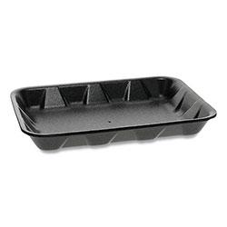 Pactiv Supermarket Tray, #4D1, 1-Compartment, 9.5 x 7 x 1.25, Black, 500/Carton
