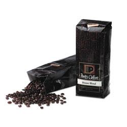 Peet's Bulk Coffee, House Blend, Whole Bean, 1 lb Bag