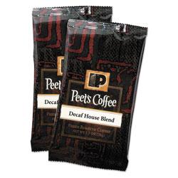 Peet's Coffee Portion Packs, House Blend, Decaf, 2.5 oz Frack Pack, 18/Box