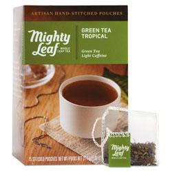 Mighty Leaf Tea Whole Leaf Tea Pouches, Green Tea Tropical, 15/Box