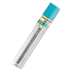 Pentel Super Hi-Polymer Lead Refills, 0.7 mm, HB, Black, 12/Tube