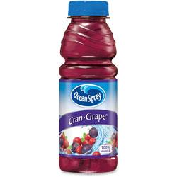 Ocean Spray Cran-Grape Juice, Plastic, 15.2oz., 12/CT, PE