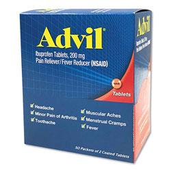 Advil® Ibuprofen Tablets, Two-Packs, 50 Packs/Box