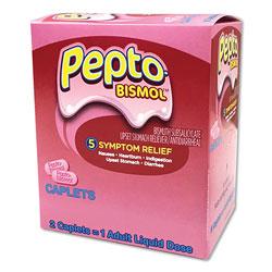 Pepto Bismol™ Tablets, Two-Pack, 25 Packs/Box