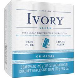 Ivory Bar Soap, 3 pack, 3.1 oz. each, 24/Case, 72 Total