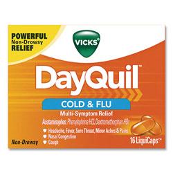 Lil Drugstore Products Cold and Flu Multi-Symptom Relief LiquiCaps, 16/Box