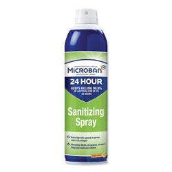 Microban 24 Hour Disinfectant Aerosol Sanitizing Spray, 15 oz. Spray Bottle