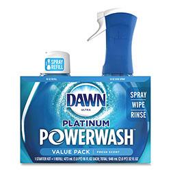 Dawn Platinum Powerwash Dish Spray, Fresh, 16 oz Spray Bottle, 2/Pack