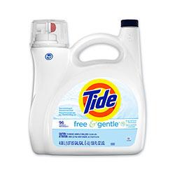 Tide Free and Gentle Liquid Laundry Detergent, 96 Loads, 138 oz Pump Bottle, 4/Carton