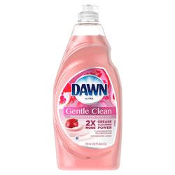 Dawn Ultra Dishwashing Liquid, Gentle Clean, Pomegranate Splash Scent, 24 oz. Bottle, 10/Case