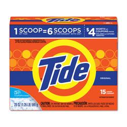 Tide Powder Laundry Detergent, High Efficiency Compatible, Original Scent High Efficiency Compatible, 20 oz. Box (15 loads), 6/Case, 90 Loads Total