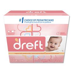 Dreft® Powder Laundry Detergen, High Efficiency Compatible, Original Scent, 53 oz. Box (40 loads)