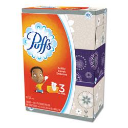 Puffs Facial Tissue, White, 3 Box Pack, 180 Sheets Per Box, 540 Sheets Total