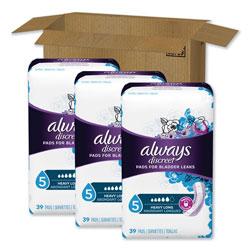 Always® Discreet Pads, Heavy, Long Length, 39 Per Box