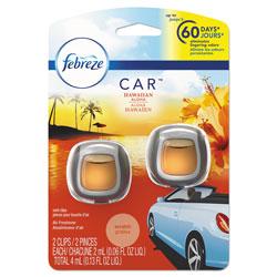 Febreze Car Vent Clips, Hawaiian Aloha Scent, 2 Per Pack, 8/Carton, 16 Total