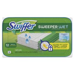 Swiffer Wet Mop Refill Cloths, Open Window, White, 8 in x 10 in, Fresh Scent, 12 Per Tub