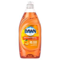 Dawn Ultra Dishwashing Liquid, Antibacterial, Orange Scent, 28oz. Bottle, 8/Case