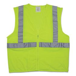 PIP Zipper Safety Vest, Hi-Viz Lime Yellow, X-Large