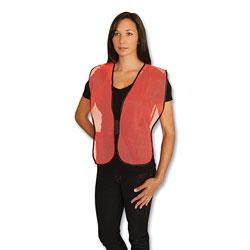 PIP Hook and Loop Safety Vest, Hi-Viz Orange, One Size Fits Most