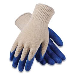 PIP Seamless Knit Cotton/Polyester Gloves, Regular Grade, X-Large, White/Blue, 12 Pairs