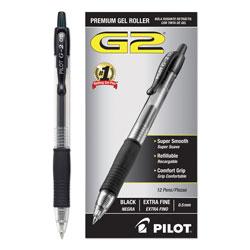 Pilot G2 Premium Retractable Gel Pen, 0.5mm, Black Ink, Smoke Barrel, Dozen