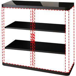 Paperflow USA Storage Cabinet, 2 Adj Shelves, 43-1/3 inx16-1/3 inx41 in, Black