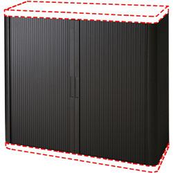 Paperflow USA Storage Cabinet, Box 2 of 2, 43-1/3 inx16-1/3 inx80 in, Black