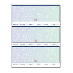 Paris Business Forms Premier Prismatic Check, 13 Features, 8.5 x 11, Blue/Green Prismatic, 500/Ream